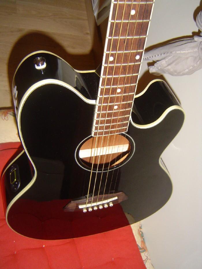guitare folk lectro acoustique ibanez talman tcy10bk1204. Black Bedroom Furniture Sets. Home Design Ideas