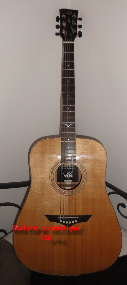 guitare folk acoustique vig v10 vendre. Black Bedroom Furniture Sets. Home Design Ideas