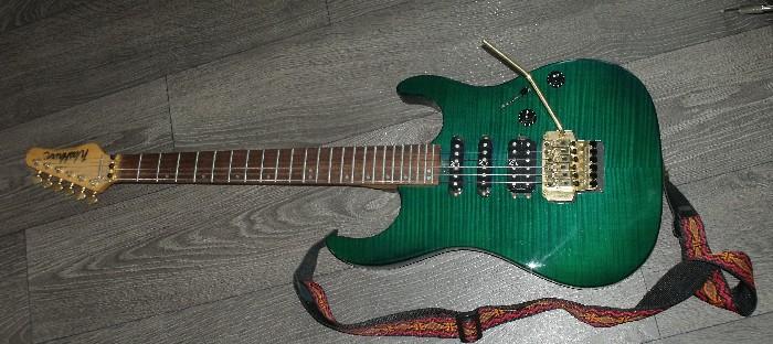 Guitare électrique solid body Washburn mercury II series à ...