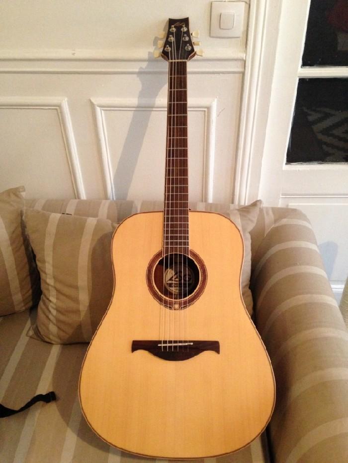 guitare folk acoustique lag 4 seasons summer 4s200d vendre. Black Bedroom Furniture Sets. Home Design Ideas