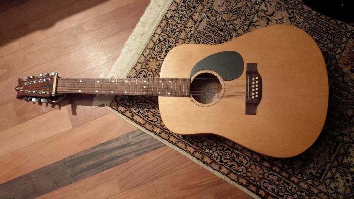 acoustic guitar lys 12 cordes for sale. Black Bedroom Furniture Sets. Home Design Ideas