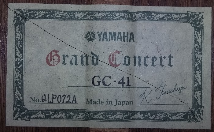 Guitare Yamaha Grand Concert Occasion