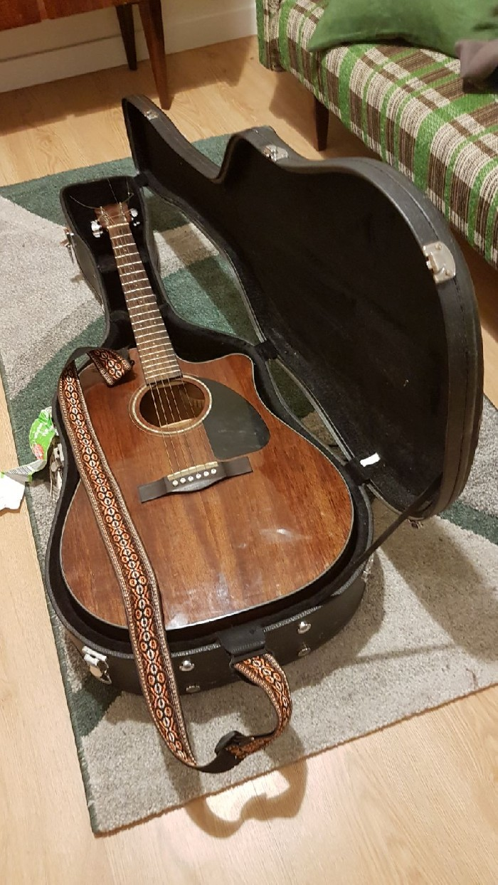 Acoustic Guitar Fender Cd60 Ce Am Nat For Sale